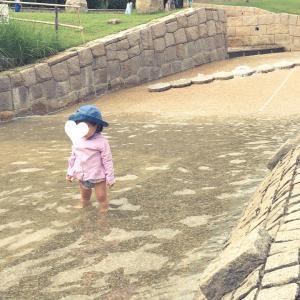 一庫公園で水遊び☆