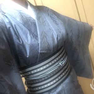 今日も着物~♪&初大島紬の着物が届きました♪
