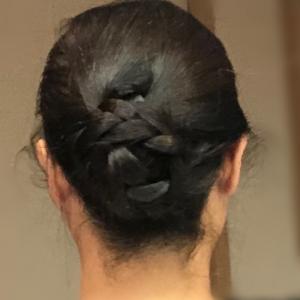 まとめ髪!