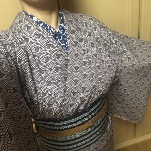 今日も着物~(1/28)&ちくちく