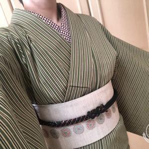 今日も着物~(4/15)&お籠りちくちく
