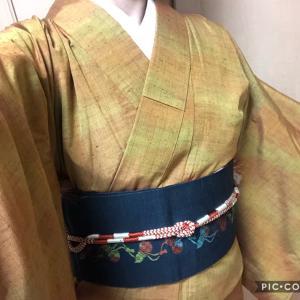 今日もきもの~(11/6)&くれおさんの羽織紐と帯飾り&りんりん病院へ