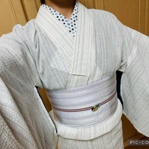 おうち着物(6/24)ナゾなしじら織