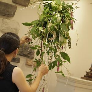 Hanging flower installation~♪