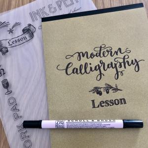 【ミニツク】モダンカリグラフィー(1回目)簡単なメッセージカードにトライ!