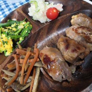 豚肉のえのきロール生姜焼き