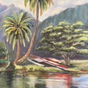 アラワイ運河(油絵)