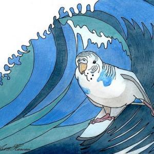 サーフィンするインコ・ユキ、ニューヨークへ行く