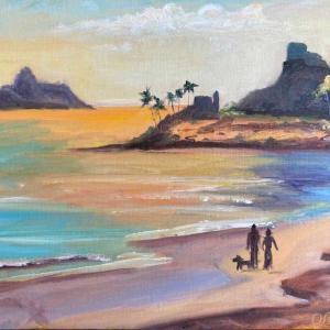 カイルアビーチ(油絵)