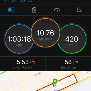 【ジョグ10キロ】フルマラソンの練習に戻りました。