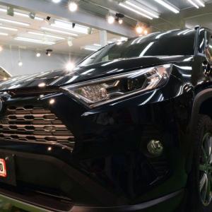 トヨタ・新型RAV4(アティチュードブラックマイカ)札幌市豊平区より【スタンダード】親水タイプガラスコーティングのご利用ありがとうございました。