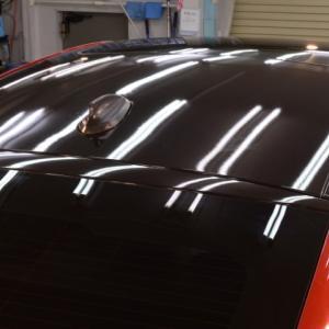 2020/3 BMW・X6M ルーフとリアウイングへハイグロスカーボン ラッピング 北広島市よりご利用ありがとうございました。
