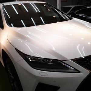 2020/4 レクサス・RX300 Fスポーツ(ホワイトノヴァガラスフレーク) 札幌市清田区より SPG Cort Type-T(完全2層式ガラスコーティング、低撥水・艶・対すり傷・防汚・耐薬品性)のご利用ありがとうございました。