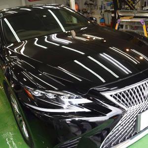 2020/7 レクサス・LS500(212ブラック) セラミックプロ9H 1レイヤー追加 札幌市清田区よりご利用ありがとうございました。