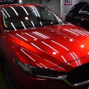 2020/7 マツダ・CX-5(ソウルレッドクリスタルメタリック)札幌市白石区より【プレミアム】SPGコートType-T(完全2層式ガラスコーティング 低撥水・艶・対すり傷・防汚・耐薬品性)】ご利用ありがとうございました。