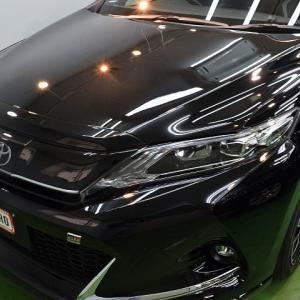 2020/8 トヨタ・ハリアー GR SPORT(202ブラック)千歳市より 【スタンダードガラスコーティング】PRO PCX-V110(撥水性低撥水・濡れたような艶・耐薬品性)のご利用頂きまして誠にありがとうございました。