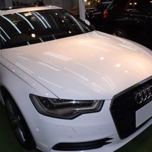 2020/10 アウディ・A6ハイブリット(グレイシアホワイト)立体駐車場でグリス他が固着してしまったお車のご相談。PRO PCX-V110仕上げ 札幌市中央区よりご利用誠にありがとうございました。