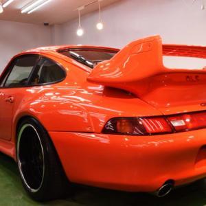 2020/10 ポルシェ・911(Type993)札幌市より【プレミアムガラスコーティング】SPG Cort Type-H(完全2層式ガラスコーティング、撥水・艶・対すり傷・防汚・耐薬品性)ご利用頂きまして誠にありがとうございました。