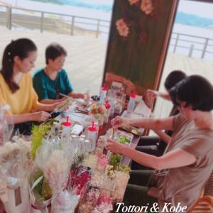 【オシャレなカフェでレッスン】湯梨浜町での出張ハーバリウムレッスン風景と9月スケジュールについて