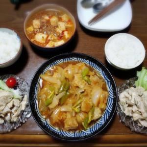 【家ごはん】 焼売料理と 焼売弁当♪ [レシピ] 鶏むね肉とザーサイの胡麻和え / 肉味噌麻婆豆腐