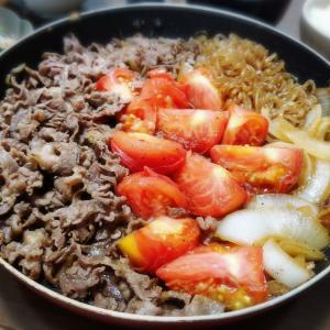 【家ごはん/献立】 トマトすき焼き♪ [レシピ] キュウリとカニカマの酢の物
