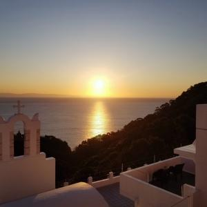 【旅行⑬】 日の出 ☀ 朝日 エーゲ海リゾートホテル Villa Santorini ヴィラサントリーニ in 高知県土佐市