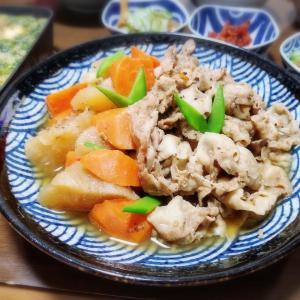 【家ごはん/献立】 豚バラ大根 と アオサとろろ豆腐ステーキ [レシピ]
