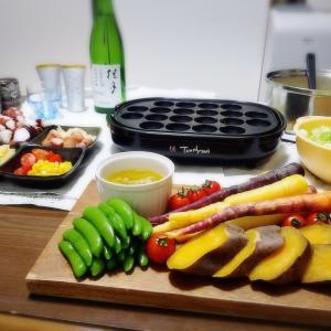 【家飲み/日本酒】タコパ♪ 桂月 純米大吟醸 CEL24 [レシピ] バーニャカウダソース