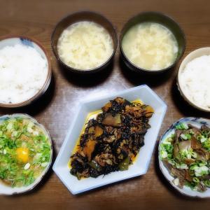 【家ごはん/献立】 おかずになる 具沢山のひじき煮 と 鶏レバーの甘辛煮