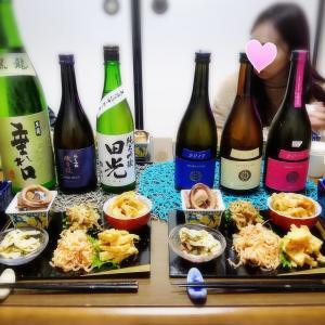 【家飲み/日本酒会】 新政Colors飲み比べ♪ * ラピス * エクリュ * コスモス * 日本酒のアテ色々