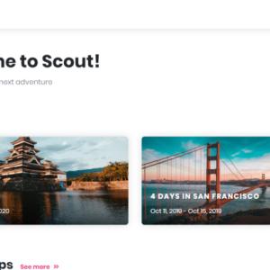 Googleマップを使って旅行計画が立てられるWebサービス『Scout』
