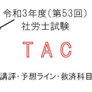 第53回社労士試験『TAC』講評・予想合格ライン・救済科目まとめ