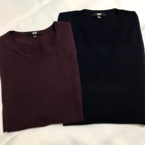 ユニクロでセーター購入