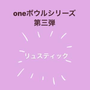 【第三弾‼️】oneボウルシリーズ☆リュスティック