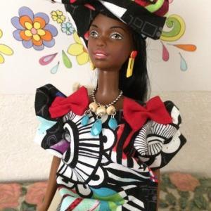 ブラックスキン・バービーのアフリカン・ドレス