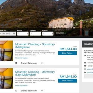 [注意]キナバル山 日帰り登山禁止 入山規制あり! ラバンラタホテル予約方法