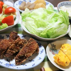 山盛りレタスは塩で食う!栄養バランスばっちり、サラダ3種のヘルシーメニュー