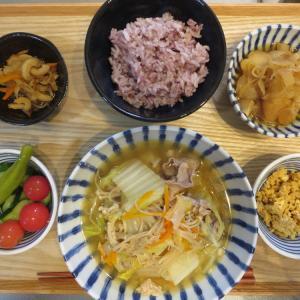 白菜と豚肉の鍋の献立(2019年9月16日の昼ごはん)