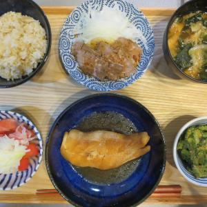 煮魚(カラスガレイ)の献立(2019年10月6日の夜ごはん)