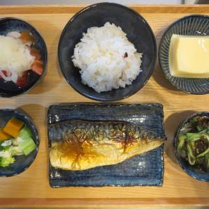 焼魚(さば)の献立(2020年7月28日の朝ごはん)|マスク2種類