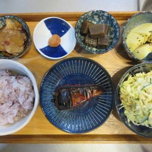 焼魚(さばのみりん干し)の献立(2021年1月15日の朝ごはん)