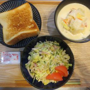 トースト、白菜のミルク煮の献立(2021年3月2日の昼ごはん)