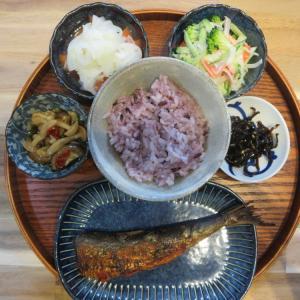 焼魚(いわし明太)の献立(2021年9月22日の朝ごはん)