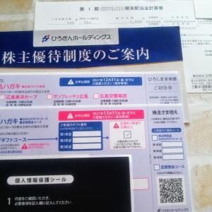 ひろぎんから株主優待(電子カタログ・招待券など)と配当金