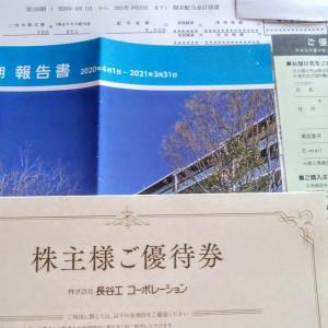 長谷工から株主優待(割引特典)の案内と配当金と第104期報告書