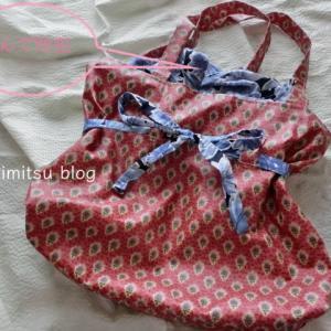 ■ダイソーの持ち手とラミネート生地で 雨の日バッグ