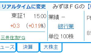 〔確定〕配当利回りに注目した三菱UFJとみずほ銀行のロング・ショート戦略