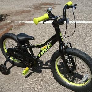 もうすぐ4歳の息子、子供用自転車トレック(TREK) プレキャリバー 16 (Precaliber16)でいきなり自転車デビュー!