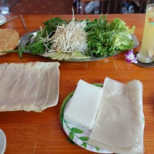 ダナン名物料理で野菜たっぷりヘルシーランチ@Banh Trang Thit Heo Tran