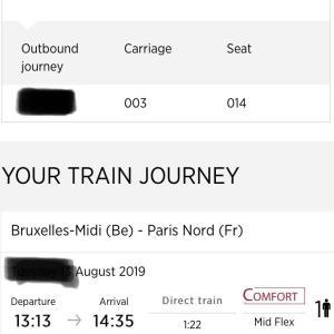 準備編④ブリュッセルからパリへの移動手段タリスを予約しよう